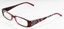 New! Foster Grant EZ Reader Rosemary Red 1.25 Reading Glasses W/Soft Case.