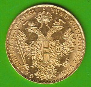 GOLD Österreich Dukat 1855 A toll erhalten nswleipzig