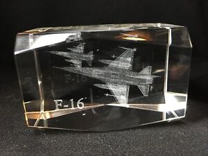F-16 Fighter Jet 3D Glass Etching