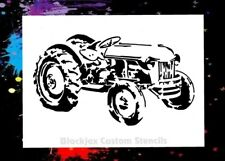 Old Farm Tractor 01 Airbrush Stencil,Template