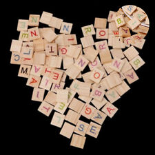 Letters Scrabble Crafts Alphabet For Numbers 100X Toy Tiles Wooden Colorful Wood