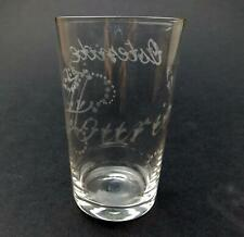 A lovely engraved antique Victorian glass Tumbler C.19thC