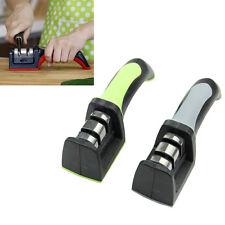 Household Knife Sharpener 2 Stages Hard Carbide Ceramic Sharpening Stone Handle
