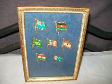 New listing Vintage 1960s Tin Plate Country Flags - Set Of 7
