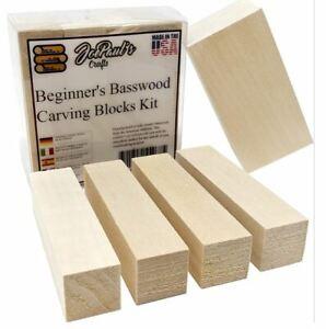 Whittler Premium Basswood Carving Block Kit Whittling Soft Wood Block DIY Craft