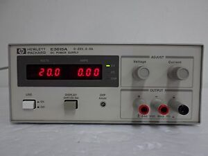 HP_E3615A DC Power Supply, 0 to 20 Vdc, 0 to 3 A, 60 W Tested