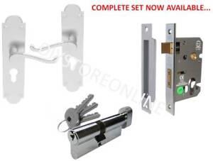 Euro Door Locks 63mm Euro SashLock 35x35mm Euro Cylinder Shaped Euro Handle Home
