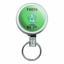Yukon Do It You Can Canada Funny Humor Retractable Belt Clip Badge Key Holder