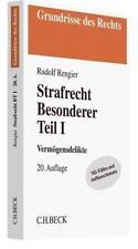 Strafrecht Besonderer Teil I von Rudolf Rengier (2018, Taschenbuch)