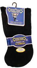 3 Pair Mens Extra-Wide Comfort fit Diabetic Socks Non Elastic Black 6-11