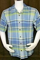 TOMMY BAHAMA Multicolor Silk Mens Short Sleeve Button Down Shirt Size Large
