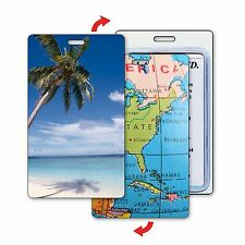 Lenticular Flip Luggage Tag - Florida White Sand Map of USA #LT01-227#