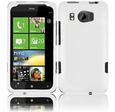 For AT&T HTC Titan II 2 Rubberized HARD Case Snap On Phone Cover Rubber White