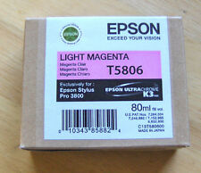 01-2017 Genuine Epson Pro 3800 only Light Magenta  Ink  T5806 T580600
