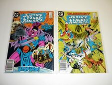 JUSTICE LEAGUE AMERICA #251 254 DC Comic Books Lot of 2 Issues Newsstand VF-NM