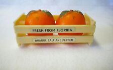 Fresh From Florida Crate Of Oranges Souvenir Salt And Pepper Shaker Set
