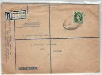 Stanley Gibbons Registered Wax Seal stamps cover ref 21693