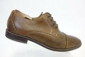 FLORSHEIM Cap-Toe Brown Sz 13 D Men Leather Derby Dress Shoes