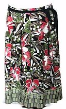 Talbots Navy Blue/Pink/Brown/White/Green Floral Skirt-Womens-Sz 10    EXCELLENT!