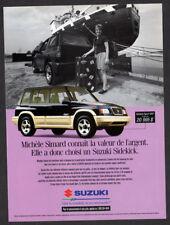 1997 SUZUKI Sidekick Sport Vintage Original Print AD - Black car Michele Simard