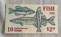 US #BK154 MNH complete booklet with #2205-2209 stamps 22c fish OG FVF Sealed