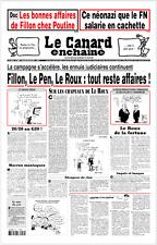 LE CANARD ENCHAÎNÉ n°5030 du 22/3/217**FILLON+LE PEN+LE ROUX=tout reste AFFAIRES