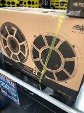 """WET SOUNDS REV8-W-FC 8"""" WHITE MARINE BOAT EFG 4-OHM MID BASS TOWER SPEAKERS NEW"""