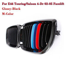 M-color Gloss Black Kidney Front Grille for BMW E46 3 Series 4 Door 2002-2005 C