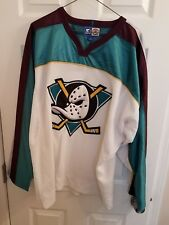 Vintage Starter Anaheim Mighty Ducks White Sewn NHL hockey jersey L  throwback 0e8114ea4