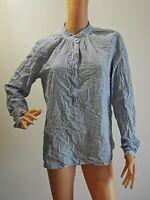 NOA NOA Hübsche Tunika Bluse Shirt Gr. 40 blau weiß gestreift   LRZ1466