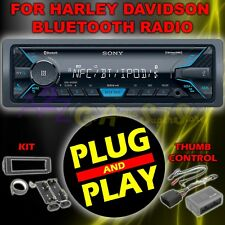FOR 98-2013 HARLEY DAVIDSON TOURING PLUG & PLAY SONY DSX-A405BT RADIO STEREO KIT