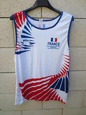 Débardeur maillot Equipe de FRANCE PETECA tournoi Sannois 2006 shirt porté PTK M