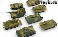 1/72 LOT 4PCS AS-90 M113A2 M88A1G M12 Germany Tiger T72 AFV M1A2 TANKS