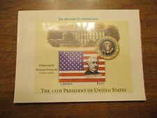 Liberia $100 President Millard Fillmore Stamp