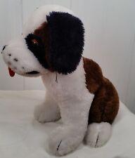 Vtg Dakin Valley Banc St Bernad Dog plush stuffed animal toy