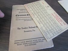 ANTIQUE - THE TRADERS NATIONAL BANK - CHRISTMAS SAVINGS CLUB BOOK - SCRANTON PA
