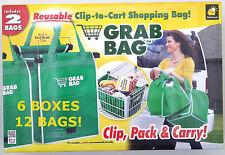 NIB ASOTV Grab Bag Reusable Shopping Bags - 6 Boxes = 12 Bags Total!