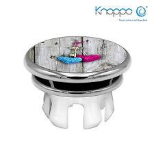 KNOPPO Waschbecken Überlaufblende / Abdeckung - Mirror Schlüssel Motiv (chrom)