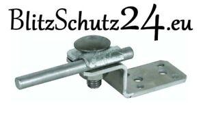 DEHN + Söhne Blitzschutz / Blitzableiter, Anschlusslasche Aluminium + Klemmbock