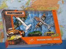 MATCHBOX MISSION FORCE JUNGLE SEA PLANE SKY SAFARI DUNE DOG CRAWLER ATV 5 PACK