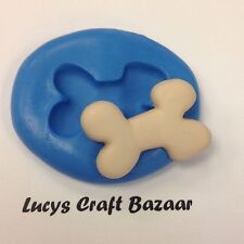 Silicone Mould Dog Puppy Bone Spooky Halloween Cupcake Pop Topper Sugarcraft Ice