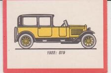Monty Gum trading card 1972 Oldtimers 1922 - FIAT 519