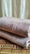 Flat Sheet hemmed/Washed/Flax100%/King Queen Standard/ White Brown NaturalGray