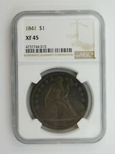 1841 Seated Liberty Silver Dollar NGC Graded XF 45 (128)