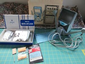 Vintage 8mm Movie Reviewer and Splicer 2 Units Mansfield and Baja + ESTATE SALE