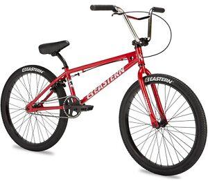 "Eastern 24"" Commando LTD Bicycle Freestyle BMX Cruiser Bike 3 Piece Crank Red"