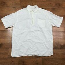 Hugo Boss Linen Shirt Tunic White 2XL