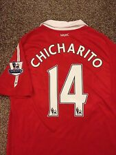 Manchester United 2010/11 Home Shirt Adults (M) 14 Chicharito