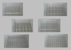 Sortimentskasten, Sortierkasten - 6 bis 40 Fächer - transparent, stapelbar,