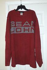Men Vintage Sean John Spell Out Sweater Red Size L Hip Hop